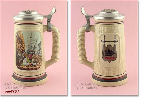 """THE SHIP BUILDER"" STEIN BY AVON"