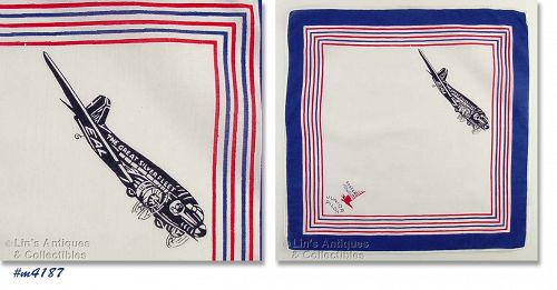 Eastern Airlines Junior Pilot Vintage Handkerchief