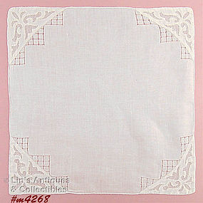 BEAUTIFUL WHITE WEDDING HANDKERCHIEF