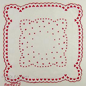 LOTS OF HEARTS VALENTINE HANDKERCHIEF