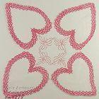 4 LARGE HEARTS VALENTINE HANDKERCHIEF
