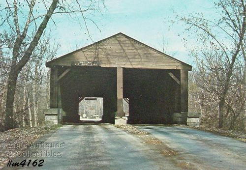 COVERED BRIDGE POSTCARD � COVERED BRIDGE, BROWN COUNTY, INDIANA