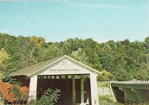 COVERED BRIDGE POSTCARD DEER�S MILL COVERED BRIDGE, MONTGOMERY CO,