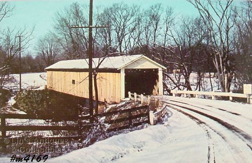 COVERED BRIDGE POST CARD � RIVERDALE BRIDGE, ASHTABULA CO, OHIO