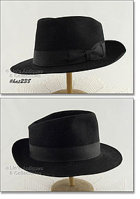THE MIDDLETON HAT � BLACK FEDORA