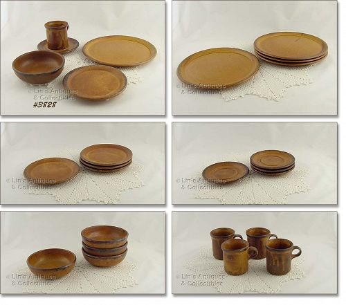 McCOY POTTERY VINTAGE CANYON 20 PIECE DINNERWARE FOR 4