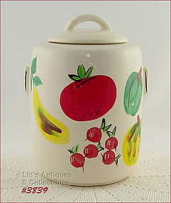 McCOY POTTERY VEGETABLES VINTAGE COOKIE JAR EXCELLENT CONDITION