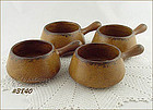 McCOY POTTERY � SET OF 4 CANYON CASSEROLES