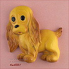 CHALKWARE � YELLOW DOG WALL HANGING / PLAQUE