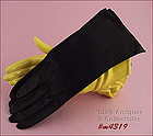 DARK BROWN LEATHER GLOVES (SIZE 6)