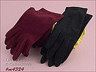 2 PAIRS GLOVES � 1 BLACK, 1 DARK RED (SIZE 6 � 6 ½)