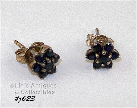 SAPPHIRE EARRINGS (PIERCED)