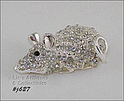 MOUSE SHAPED PIN WITH RHINESTONES