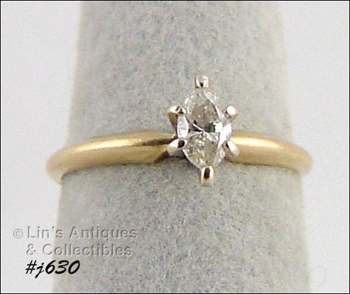 14K YELLOW GOLD ¼ CT. DIAMOND RING (SIZE 5)