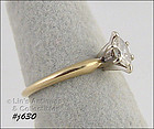 14K YELLOW GOLD ¼ CT. DIAMOND RING (SIZE 5)