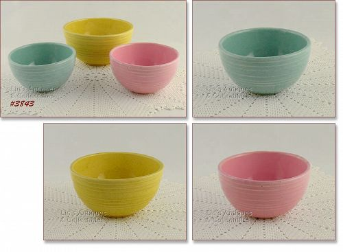 McCOY POTTERY RINGS PATTERN BOWLS 3 AVAILABLE IN LISTING