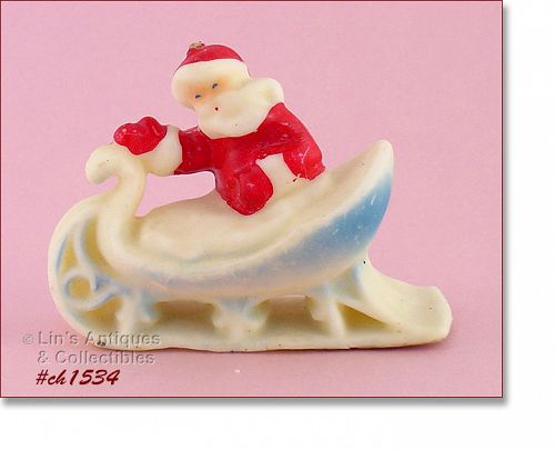 TAVERN CANDLE COMPANY SANTA IN SLEIGH