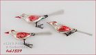 3 VINTAGE GLASS BIRD CLIP ORNAMENTS