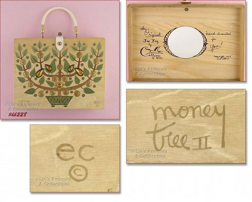 Enid Collins Money Tree II Wooden Box Bag Copyright 1965