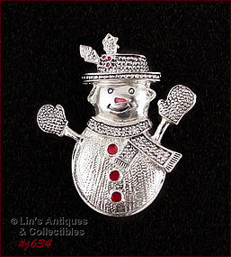 HOLIDAY SNOW LADY PIN