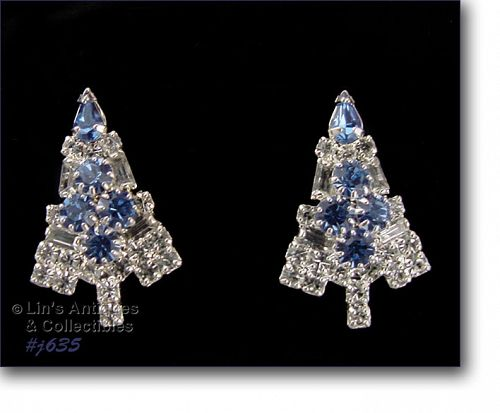 EISENBERG ICE CHRISTMAS CANDLE TREE PIERCED EARRINGS