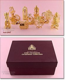 DANBURY MINT � 12 ORNAMENTS, 1985 MINT IN BOX