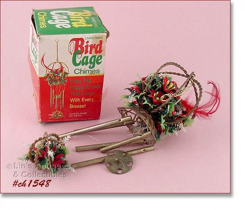 VINTAGE BIRD CAGE CHIMES ORNAMENT (IN BOX)