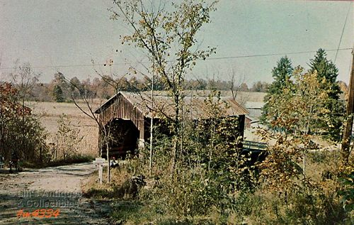 INDIANA COVERED BRIDGE POST CARD