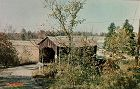 COVERED BRIDGE INDIANA COVERED BRIDGE VINTAGE POSTCARD