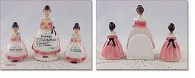 ENESCO � PRAYER LADY NAPKIN HOLDER AND SHAKER SET