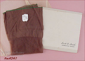 BELLE SHARMEER SEAMED STOCKINGS (SIZE 10)