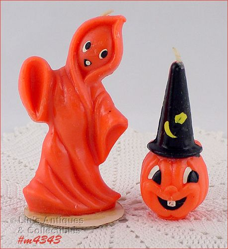GURLEY CANDLE � GHOST AND JACK-O-LANTERN