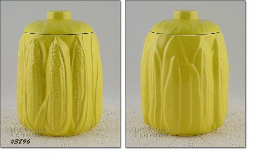 McCOY POTTERY VINTAGE YELLOW CORN COOKIE JAR