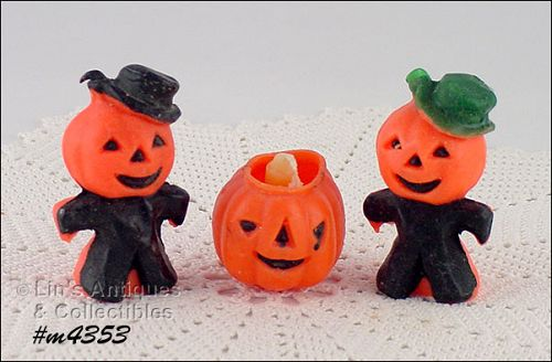 VINTAGE GURLEY LOT OF THREE HALLOWEEN CANDLES