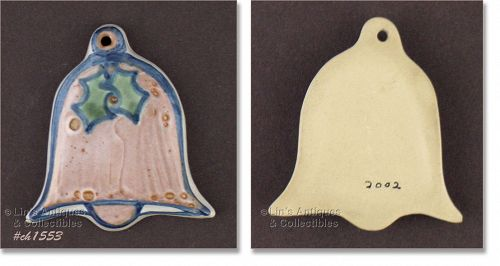 M.A. HADLEY � BELL SHAPED CHRISTMAS ORNAMENT