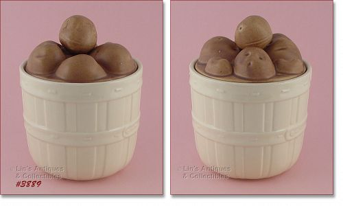 McCOY POTTERY BASKET OF POTATOES COOKIE JAR