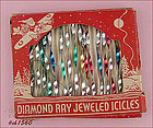 19 DIAMOND RAY METAL ICICLES IN ORIGINAL BOX