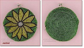 BEADED FLORAL COIN PURSE