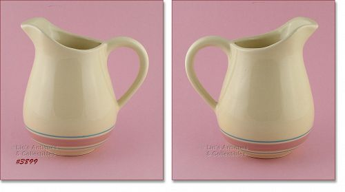 McCOY POTTERY RARE STONECRAFT VINTAGE PINK AND BLUE WATER PITCHER