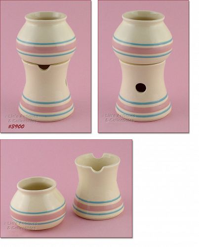 McCOY POTTERY � RARE PINK AND BLUE POTPOURRI POT/WARMER