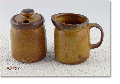 McCOY POTTERY VINTAGE CANYON DINNERWARE LINE CREAMER AND SUGAR