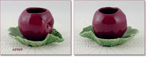 McCOY POTTERY VINTAGE APPLE ON LEAVES FRUIT SHAPED PLANTER