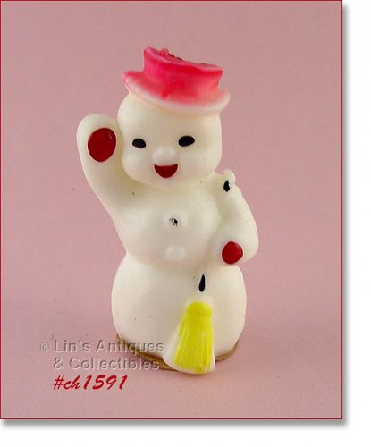 GURLEY CANDLE LARGE CHRISTMAS SNOWMAN SHAPED CANDLE