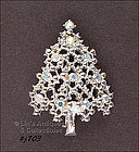 EISENBERG ICE � SILVER-TONE CHRISTMAS TREE PIN
