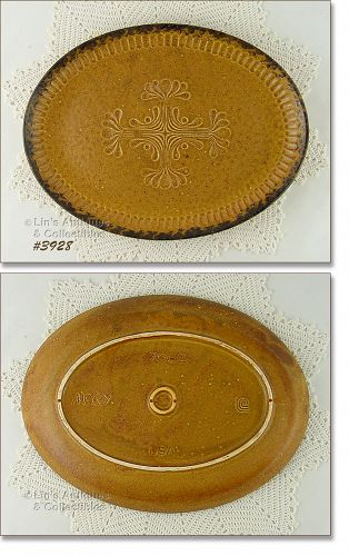 McCOY POTTERY VINTAGE CANYON DINNERWARE DIFFICULT TO FIND PLATTER