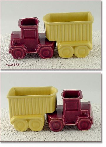 SHAWNEE POTTERY � TRUCK AND TRAILER PLANTERS