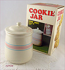 McCOY POTTERY � PINK AND BLUE COOKIE JAR (MIB!)