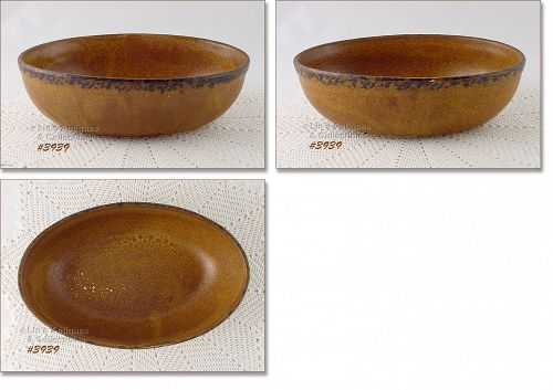 McCOY POTTERY VINTAGE CANYON OVAL SERVING BOWL
