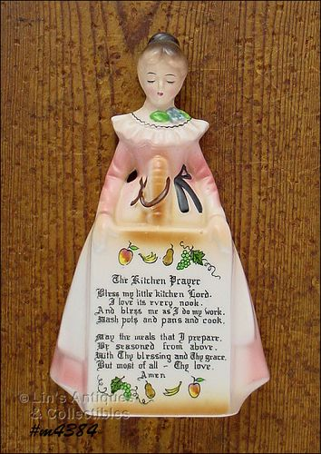 ENESCO PRAYER LADY MOTHER IN THE KITCHEN WALL PLAQUE