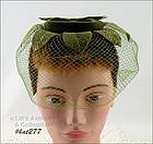 VINTAGE GREEN NETTING VEIL HAT